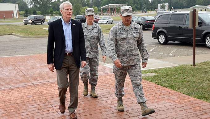 Sen. Portman impressed with 178th Wing's capabilities